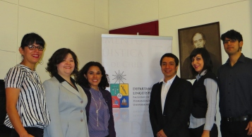 Prof. Mariana Quilaqueo, Prof. Rosa Bahamondes, Coordinadora Prof. Claudia Flores, Prof. Alberto Catalán, Prof. Ingrid Nuñez, Prof. Lucas Araya