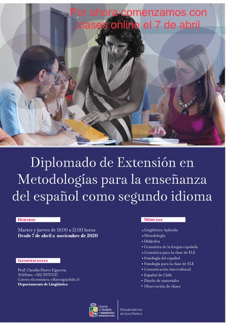 Afiche Diplomado Español 2020